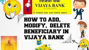 Hdfc Bill Deskcom by How To Add Modify Delete Beneficiary In Vijaya Bank Youtube