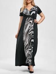 plus size monochrome empire waist maxi dress black xl in plus