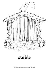 Nativity Colouring Pages The Stable