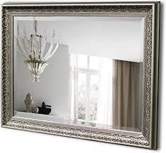 spiegel trend antik silber barock gestylt gerahmter wandspiegel große rechteckige spiegel für wohnzimmer schlafzimmer esszimmer badezimmer oder