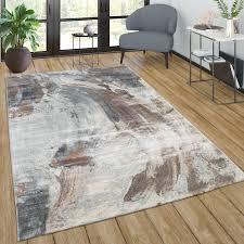 teppich wohnzimmer vintage kurzflor abstraktes muster modern