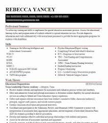 Educational Diagnostician Resume Example Texas Leadership Charter Academy