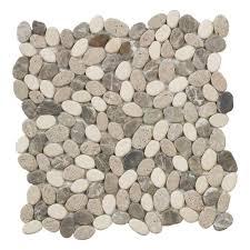 jeffrey court emperador river rocks 12 in x 12 in x 8 mm marble