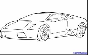 Awesome How To Draw Lamborghini Drawings With Coloring Pages And Print