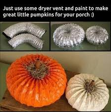 Make Dryer Vent Pumpkins by 40 Easy Diy Halloween Decorating Ideas Page 3 Of 8 Fab Art Diy