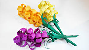Paper Flowers Hyacinths DIY Making Tutorial Flower Easy For Children Kidsfor Beginners