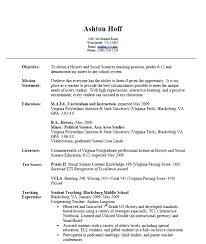 Resume Samples For Teaching Job Lecturer Objective Sample Teacher Application