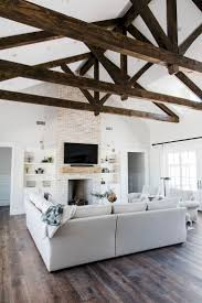100 Rustic Ceiling Beams Bookshelf Styling Contemporary Style Transitional Design