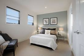 Ideas Balwyn North Guest Bedroom With Duck Egg Blue Painted Feature Wall Traditional