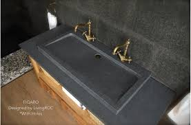 Double Faucet Trough Sink Vanity by 39