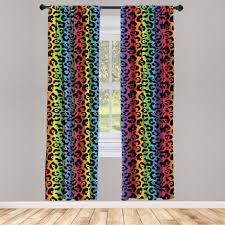 gardine fensterbehandlungen 2 panel set für wohnzimmer schlafzimmer dekor abakuhaus leopard druck modernisierte löwe haut kaufen otto