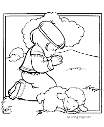 Bible Boy Colouring Pages