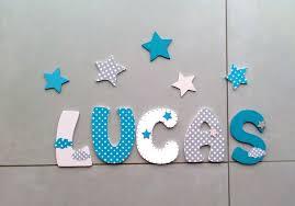 lettre decorative pour chambre bébé réservé gabriel plaque de porte prénom lettres en bois thème