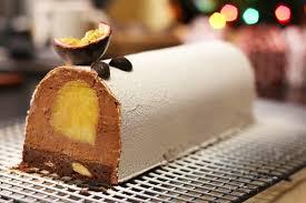 herv cuisine mousse au chocolat recette bûche de noël au chocolat et insert fruits exotiques facile