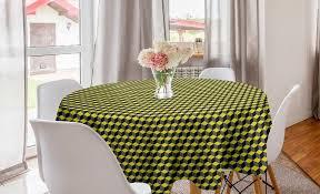 abakuhaus tischdecke kreis tischdecke abdeckung für esszimmer küche dekoration grau gelb würfel optische täuschung kaufen otto