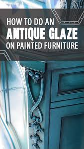 How to Do an Antique Glaze on Painted Furniture Painted