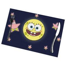 Amazon.com: LIUYAN Placemats Spongebob Squarepants Moon ...