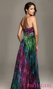 short strapless prom dress with animal print by night moves prom