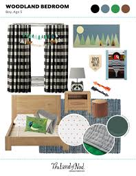 Land Of Nod Blackout Curtains by Kids Woodland Themed Bedroom Honest To Nod
