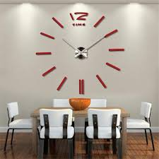 modern dining room with big wall clock decoration