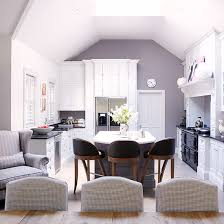 Open Plan Kitchen Diner With Co Ordinating Colour Scheme