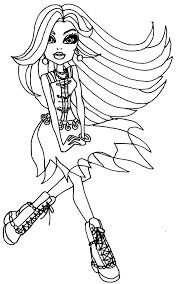 Monster High Coloring Pages 13 Wishes Gigi Colouring Stein Howleen Wolf