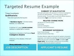 Criminal Justice Resume Examples Great Of Beautiful New Objective