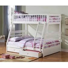 Jason Twin Over Full Wood Bunk Bed White Walmart