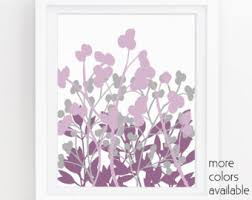 Bold Design Ideas Purple Wall Decor Plus Etsy And Gray Flowers Floral Art Print Lavender For Bedrooms Living Room Bathroom