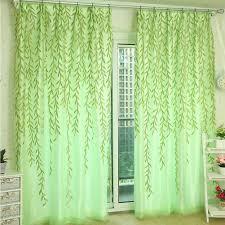 grün yunso willow muster voile vorhang tüll vorhänge