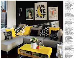 Yellow And Gray Living Room Entrancing Decor