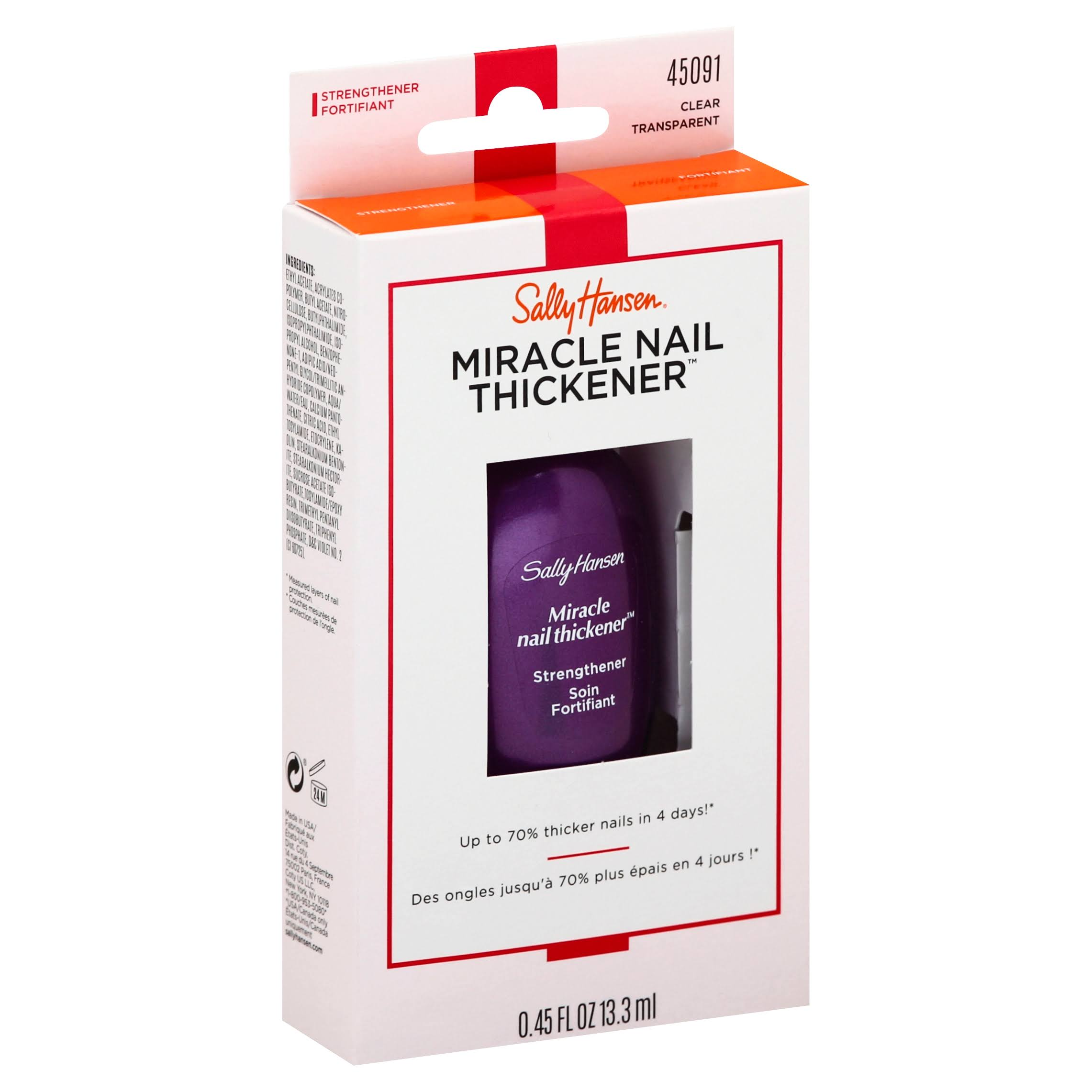 Sally Hansen Miracle Nail Thickener - Clear, 0.45oz