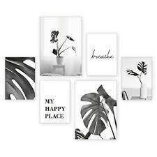 details zu 6 teiliges poster set pflanzen inkl rahmen wandbild deko wohnzimmer