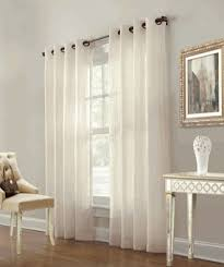 Sheer Curtain Panels With Grommets by Sheer Drapes And Curtains Marlow Grommet Top Striped Sheer