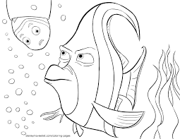 Nemo Coloring Pages Sheet Disney Printable Finding Color
