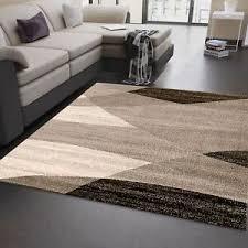 designer wohnzimmer teppich geometrisches muster meliert in