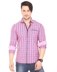buy lawman pg3 pink cotton shirts for men online best prices in
