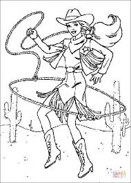 Click The Cowgirl Barbie Coloring Pages