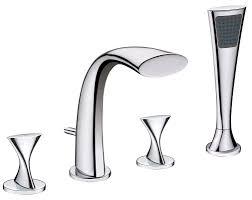 Delta Trinsic Roman Tub Faucet roman tub faucet with hand shower pegasus bamboo 3 handle roman