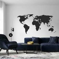 wandtattoo wohnzimmer büro weltkarte kontinente europa