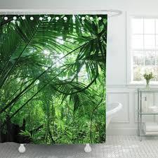 badzubehör textilien papagei in regenwald mit blumen