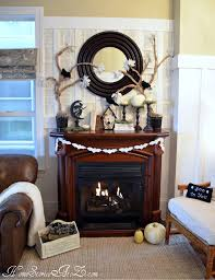 Halloween Fireplace Mantel Scarf by 35 Fall Mantel Decorating Ideas Halloween Mantel Decorations