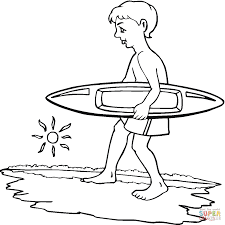 Coloriage Garçon Qui Fait Du Surf Coloriages à Imprimer Gratuits