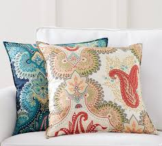 Pottery Barn Decorative Pillows by Linden Print Silk Pillow Cover Pottery Barn
