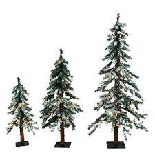 Set Of 3 Christmas Tree Alpine Trees Opulent