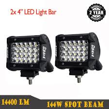 100 Led Work Lights For Trucks Details About 2x 4 Inch 96W CREE LED Light Bar Side Shooter