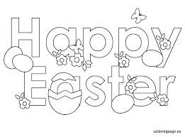 Happy Easter Coloring Pages Photo In At Free Printable Sheets
