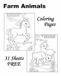 Download Animal Coloring Book Farm Animals