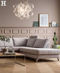 schlichte eleganz fürs wohnzimmer sofa ecke grau