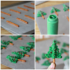 Easy To Make Chocolate Pretzel Christmas Tree Cupcake Toppers Look So Festive Atop Coconut Frosted
